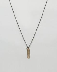 Золотистое ожерелье премиум с подвеской-клыком Icon Brand - Золотой