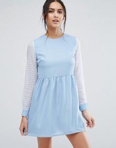 Короткое приталенное платье Jovanna Right Direction - Синий Jovonna
