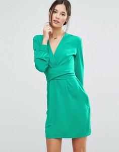 Платье с запахом спереди Liquorish - Зеленый