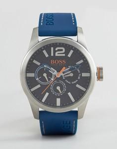 Часы с синим кожаным ремешком BOSS Orange By Hugo Boss Paris - Синий
