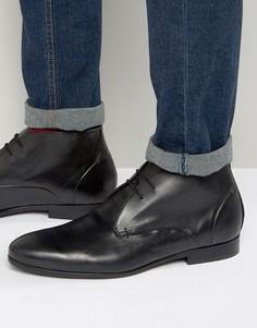 Кожаные ботинки чукка Hudson London Kender - Черный