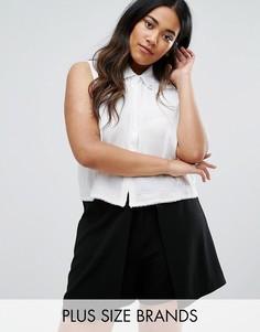 Рубашка с декоративной отделкой Elvi Plus - Белый