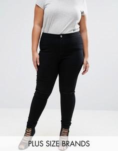 Джеггинсы скинни с разрезами на коленях Missguided Plus - Черный