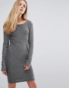 Облегающее платье из люрекса Blend She Fever - Серебряный