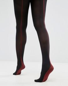 Непрозрачные колготки со швами сзади Jonathon Aston - Черный