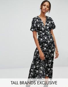 Платье макси с цветочным принтом Glamorous Tall - Мульти