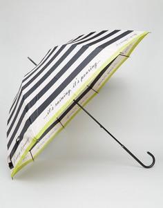 Зонт в полоску Totes - Черный