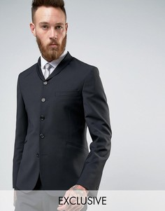 Пиджак скинни с шалевым воротником Hart Hollywood - Черный
