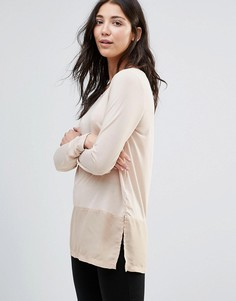 JDY Cone Layered Long Sleeved Top - Темно-синий