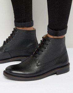 KG By Kurt Geiger Lace Up Boots In Black Leather - Черный