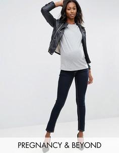 Джинсы скинни для беременных со съемной вставкой для живота Bandia Maternity - Синий