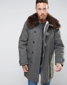 Nudie Connor Parka with Faux Fur Collar - Зеленый
