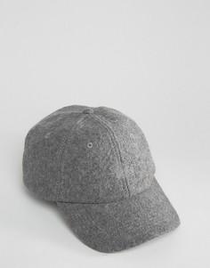Полушерстяная бейсболка Stussy - Серый
