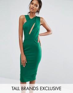 Платье-футляр миди без рукавов TTYA - Зеленый Taller Than Your Average