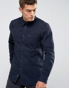 Черно-синяя фланелевая рубашка в клеточку Jack Wills Salcombe - Черный