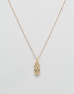 Ожерелье с подвеской-ананасом Nylon - Золотой