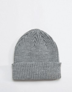 Серая шапка-бини в рубчик Gregorys - Серый