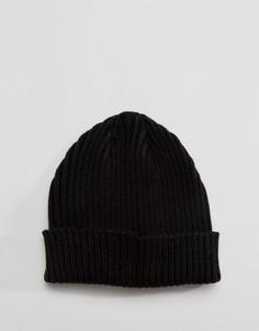 Черная шапка-бини в рубчик Gregorys - Черный
