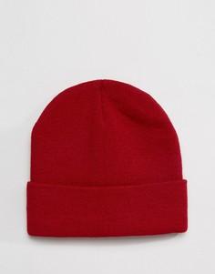 Бордовая шапка-бини Gregorys - Красный