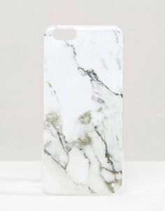 Чехол для Iphone 6 с мраморным эффектом Signature - Белый