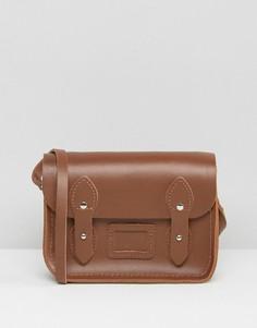 Светло-коричневая кожаная сумка-сэтчел The Cambridge Satchel Company - Рыжий