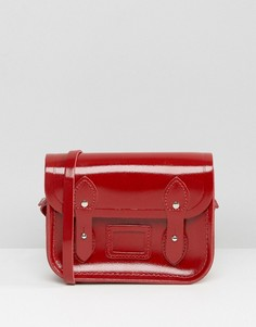 Небольшая сумка сэтчел из лакированной красной кожи The Cambridge Satchel Company - Красный