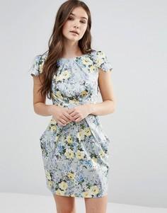 Платье с цветочным принтом и завязкой сзади Closet - Мульти