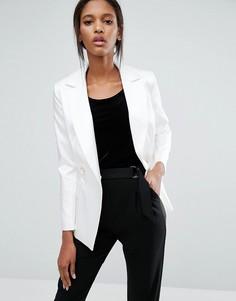 Пиджак с лацканами и застежкой на две пуговицы Closet - Белый