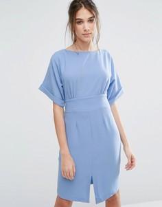 Платье с разрезом спереди Closet - Синий