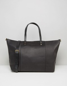 Черная кожаная сумка Forbes & Lewis Teddington - Черный