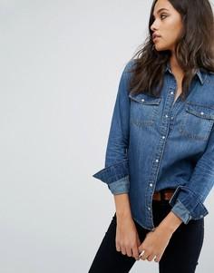 Джинсовая рубашка Abercrombie & Fitch - Синий