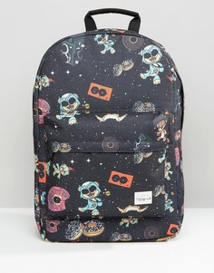 Рюкзак с принтом Space Party Spiral - Черный