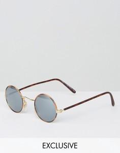 Круглые солнцезащитные очки Reclaimed Vintage - Коричневый
