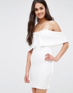 Платье с бантом спереди Oh My Love - Белый