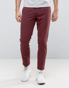 Бордовые брюки с поясом на резинке Lindbergh - Красный