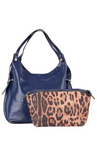 сумка из натуральной кожи с косметичкой La Reine Blanche