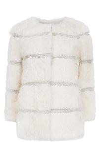 Утепленный жакет из меха козлика с отделкой натуральной кожей Virtuale Fur Collection