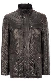 куртка из натуральной кожи на подкладе из овчины Al Franco