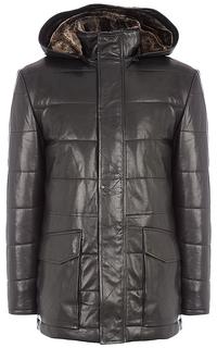 куртка из натуральной кожи на подкладе из овчины Vericci