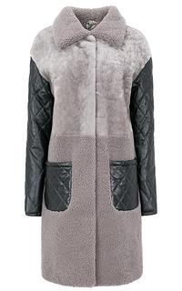 Утепленное пальто из овчины Снежная Королева