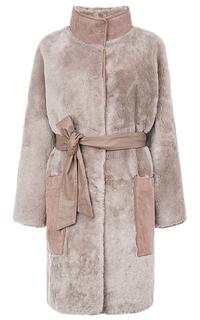 Пальто из овчины с поясом Le Monique