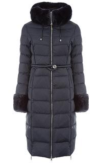 Пальто на натуральном пуху с отделкой мехом кролика La Reine Blanche