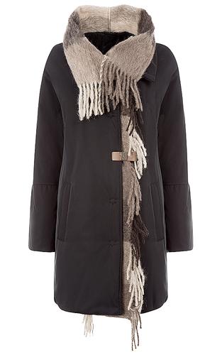 Утепленная куртка с отделкой трикотажем