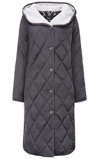 Пальто на натуральном пуху с отделкой меховой тканью Le Monique