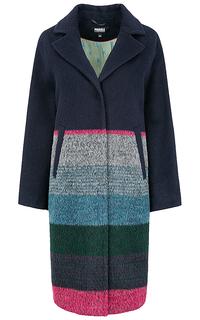Полушерстяное пальто с принтом Parole by Victoria Andreyanova