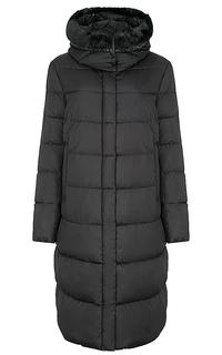 утепленное пальто с отделкой искусственным мехом Le Monique