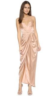 Длинное платье из ворсованного шелка Zimmermann