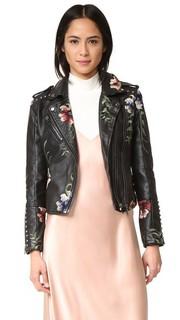 Байкерская куртка с вышивкой Blank Denim