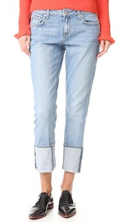 Узкие джинсы-бойфренды Mila с манжетами Derek Lam 10 Crosby