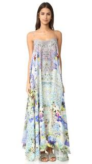 Длинное платье с широким подолом Camilla